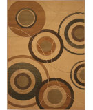 RugStudio presents 828 Laguna Collection LG29 Ivory/Brown Machine Woven, Good Quality Area Rug