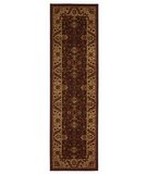 RugStudio presents 828 Crown Point CP13 Brown with Beige Border Machine Woven, Good Quality Area Rug