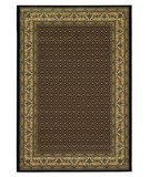 RugStudio presents 828 Greenville Collection 1-1008-90 Black with Ivory Border Machine Woven, Good Quality Area Rug