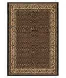 RugStudio presents 828 Greenville Collection 1-1012-90 Black with Camel Border Machine Woven, Good Quality Area Rug