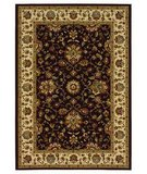 RugStudio presents 828 Greenville Collection 1-1031-80 Chocolate Brown with Ivory Border Machine Woven, Good Quality Area Rug