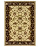 RugStudio presents 828 Greenville Collection 1-1033-72 Ivory with Brown Border Machine Woven, Good Quality Area Rug