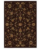 RugStudio presents 828 Greenville 1-1036-80 Chocolate Brown Floral No Border Machine Woven, Good Quality
