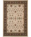 RugStudio presents 828 Greenville Collection 1-1042-70 Ivory with Burgandy Border Machine Woven, Good Quality Area Rug