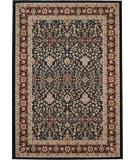 RugStudio presents 828 Greenville Collection 1-1043-41 Navy with Burgandy Border Machine Woven, Good Quality Area Rug