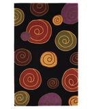 RugStudio presents 828 Mirage Collection 3-0507-90 Black/Multi Hand-Tufted, Good Quality Area Rug