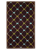 RugStudio presents 828 Mirage Collection 3-0544-80 Brown/Blue/Green Hand-Tufted, Good Quality Area Rug
