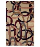 RugStudio presents 828 Mirage Collection 3-0555-99 Ivory/Multi Hand-Tufted, Good Quality Area Rug