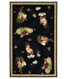 RugStudio presents 828 Accents CCL104 Black/Gold Hand-Hooked Area Rug