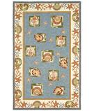 RugStudio presents 828 Accents CCL105B Blue Hand-Hooked Area Rug