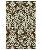 RugStudio presents 828 Accents CCL107 Chocolate/Mint Hand-Hooked Area Rug
