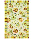 RugStudio presents 828 Accents CCL135 Ivory/Yellow Hand-Hooked Area Rug