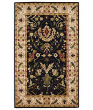 RugStudio presents 828 Ellington Collection EL04 Black with Ivory Border Hand-Tufted, Good Quality Area Rug