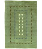 RugStudio presents 828 Himalayan H310 Green/Blue/Ivory/Brown Hand-Knotted, Better Quality Area Rug