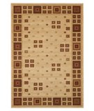 RugStudio presents 828 Laguna Collection LG03 Ivory/Red Machine Woven, Good Quality Area Rug