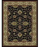 RugStudio presents 828 Rhine Collection RH01 BK Black with Ivory Border Machine Woven, Good Quality Area Rug