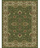 RugStudio presents 828 Rhine Collection RH01 GR Green with Ivory Border Machine Woven, Good Quality Area Rug