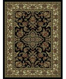RugStudio presents 828 Rhine Collection RH02 BK Black with Ivory Border Machine Woven, Good Quality Area Rug