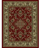 RugStudio presents 828 Rhine Collection RH02 RD Red with Ivory Border Machine Woven, Good Quality Area Rug
