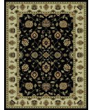 RugStudio presents 828 Rhine Collection RH03 BK Black with Ivory Border Machine Woven, Good Quality Area Rug