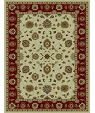 RugStudio presents 828 Rhine Collection RH03 IV Ivory with Red Border Machine Woven, Good Quality Area Rug