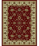 RugStudio presents 828 Rhine Collection RH03 RD Red with Ivory Border Machine Woven, Good Quality Area Rug