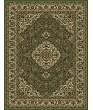 RugStudio presents 828 Rhine Collection RH06 GR Green with Ivory Border Machine Woven, Good Quality Area Rug