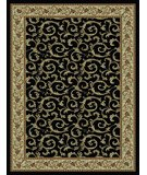 RugStudio presents 828 Rhine Collection RH08 BK Black with Ivory Border Machine Woven, Good Quality Area Rug