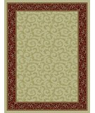RugStudio presents 828 Rhine Collection RH08 IV Ivory with Red Border Machine Woven, Good Quality Area Rug