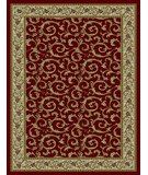 RugStudio presents 828 Rhine Collection RH08 RD Red with Ivory Border Machine Woven, Good Quality Area Rug