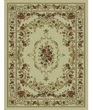 RugStudio presents 828 Rhine Collection RH12 IV Ivory with Ivory Border Machine Woven, Good Quality Area Rug