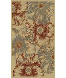 RugStudio presents 828 Rhine Collection RH16 IV Ivory/Multi Machine Woven, Good Quality Area Rug