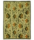RugStudio presents 828 Tibetan Collection TIB19 Green/Cream Hand-Knotted, Good Quality Area Rug