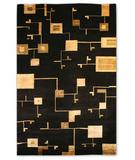 RugStudio presents 828 Tibetan Collection TIB84 Black/Cream Hand-Knotted, Good Quality Area Rug