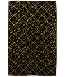 RugStudio presents 828 Tibetan Collection TIB72 Black/Gold Hand-Knotted, Good Quality Area Rug