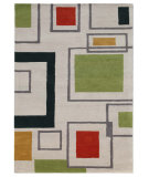 RugStudio presents Addison And Banks Hand Tufted AB34 White Hand-Tufted, Good Quality Area Rug