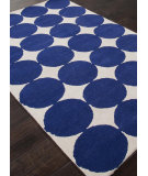 RugStudio presents Addison And Banks Hand Tufted AB39 White-Royal Blue Hand-Tufted, Good Quality Area Rug