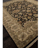 RugStudio presents Addison And Banks Hand Knotted Abr0749 Ebony Hand-Knotted, Best Quality Area Rug