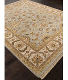 RugStudio presents Addison And Banks Hand Knotted Abr0750 Ice Blue Hand-Knotted, Best Quality Area Rug