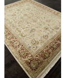 RugStudio presents Addison And Banks Hand Knotted Abr0754 Medium Ivory Hand-Knotted, Good Quality Area Rug