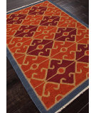 RugStudio presents Addison And Banks Flat Weave Abr0014 Red Oxide / Navy Flat-Woven Area Rug