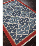 RugStudio presents Addison And Banks Flat Weave Abr0015 Smoke Blue / Red Flat-Woven Area Rug