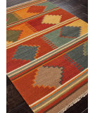RugStudio presents Addison And Banks Flat Weave Abr0016 Red Oxide Flat-Woven Area Rug