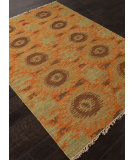 RugStudio presents Addison And Banks Flat Weave Abr0759 Golden Green Flat-Woven Area Rug