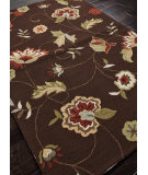 RugStudio presents Addison And Banks Hand Hooked Abr0031 Cocoa Brown Hand-Hooked Area Rug
