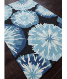 RugStudio presents Addison And Banks Hand Hooked Abr0035 Indigo Hand-Hooked Area Rug