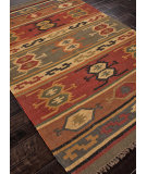 RugStudio presents Addison And Banks Flat Weave Abr0036 Deep Rust Flat-Woven Area Rug