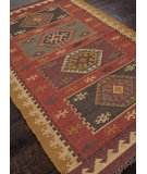 RugStudio presents Addison And Banks Flat Weave Abr0039 Red Flat-Woven Area Rug