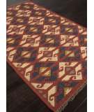 RugStudio presents Addison And Banks Flat Weave Abr0761 Red Flat-Woven Area Rug