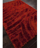 RugStudio presents Addison And Banks Shag Abr0042 Merlot Red Area Rug